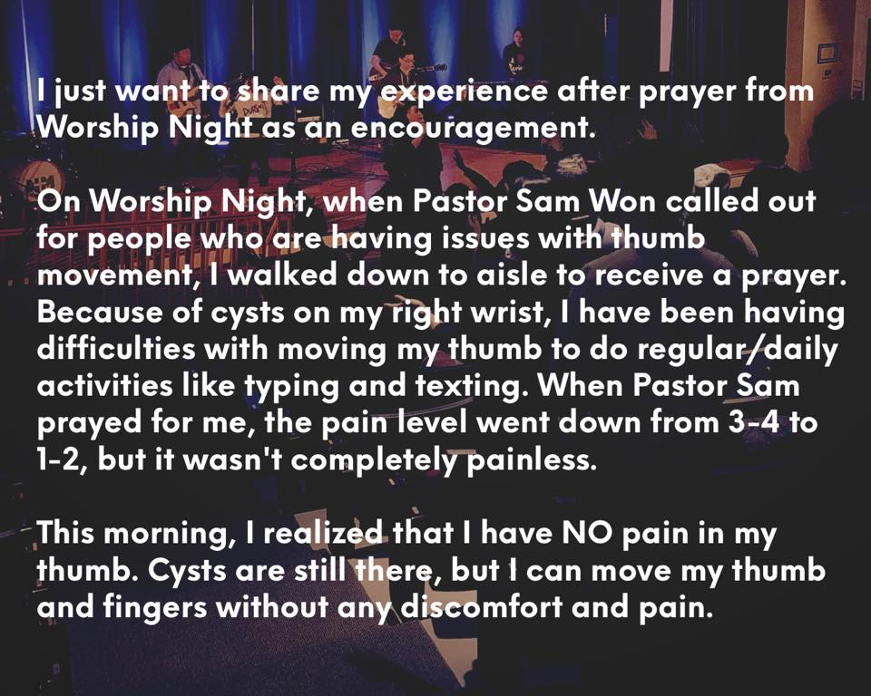 testimony healing